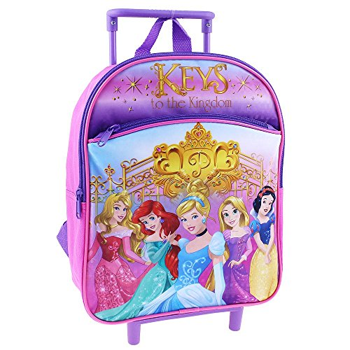 Disney Princess Rolling Backpack 12' Small Toddler