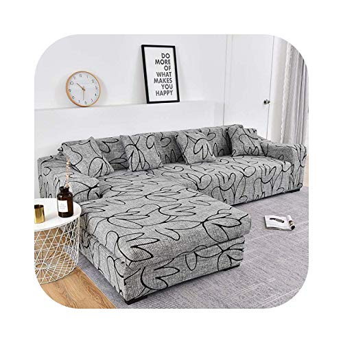 Sofa Covers Funda de sofá de algodón, fundas elásticas, funda de sofá de esquina seccional, funda de sofá para salón, color 22 – 1 seat 90 – 140 cm