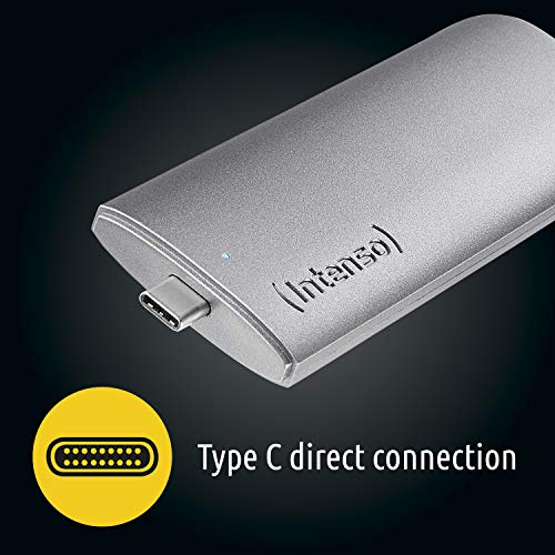 Intenso Unidad de Estado sólido Externa Business, 500 GB, USB 3.1, Gris Antracita, 500 GB miniatura