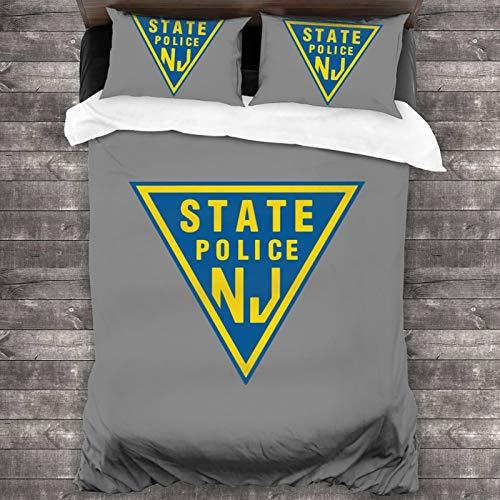 "Nj State Police 3-Piece Bedding Set 86""X70"" Soft Microfiber Comforter Sets with 2 Pillow Shams"