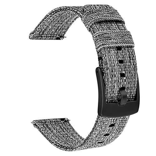 TRUMiRR kompatibel Fur Samsung Galaxy Watch3 41mm Galaxy Watch ActiveActive2Galaxy Watch 42mmGear Sport Armband 20mm Gewebtes Nylon Armband Sport Uhrenarmband fur Garmin Vivoactive 3 Ticwatch E