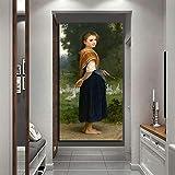 Carteles e Impresiones de Lienzo Vintage imágenes de Arte de Pared en la decoración de la Sala de Estar de la casa de Ganso de niña Pintura sin Marco 40cmX80cm