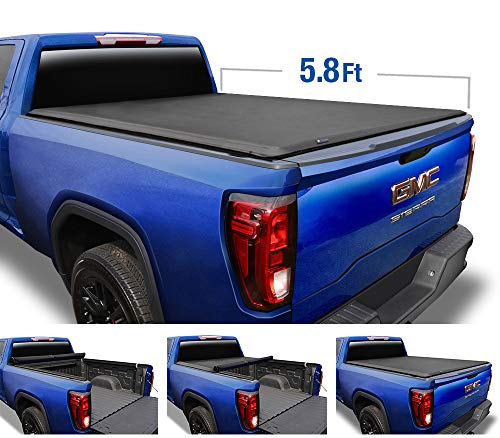 Tyger Auto Black T1 Roll Up Truck Tonneau Cover TG-BC1C9006 Works with 2014-2019 Chevy Silverado/GMC Sierra 1500 | Fleetside 5.8' Bed | for Models Without Utility Track System