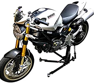 SV Racing Parts for Ducati Monster 821-1200 Models Black Custom Paddock Style Hydraulic Side Lift Motorcycle Stand