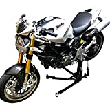 SV Racing Parts for Ducati Monster 696-796 - 1100 Models Black Custom Paddock Style Hydraulic Side Lift Motorcycle Stand