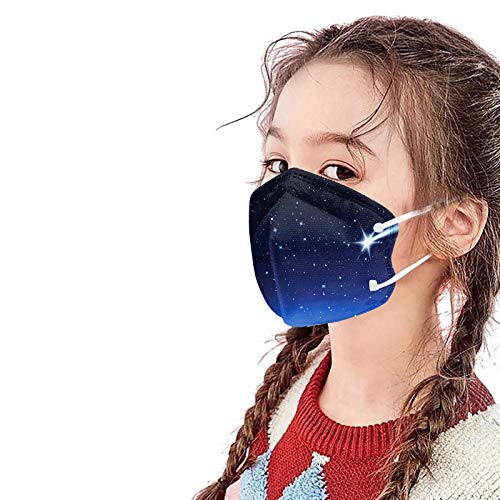 X/B Children's Masks Disposable 5-Layer Skin-friendly and Breathable Dustproof Mouth Nose Cover Mouth Guard for Children, School, Outdoor Use Pack of 20