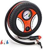 Two Bix Air Compressor for Car and Bike 12V 300 PSI Tyre Inflator Air Pump for Motorbike,Cars,Bicycle,for Football,Cycle Pumps for Bicycle,car air Pump for tubeless (Round Air Compressor)