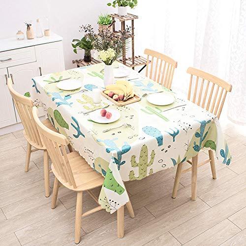 Creek Ywh tafelkleden voor terrasplanken, tafelkleden voor feestjes, tafelkleden, koffietafel, waterdicht en olievrij, afwasbaar, cactus, 100 x 160 cm @ Cactus_135 x 200 cm
