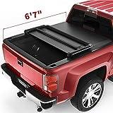 oEdRo Tri-Fold Truck Bed Tonneau Cover Compatible with 2014-2019 Chevy Silverado/GMC Sierra 1500 (2019 Legacy ONLY); 2015-2018 Silverado Sierra 2500 3500 HD, Fleetside 6.6FT Bed