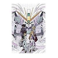 Gundam Unicorn ガンダム 300ピース ジグソーパズル パズル 減圧玩具 漫画木製 大人パズルおもちゃ 壁の装飾 ギフト(38cm * 26cm)