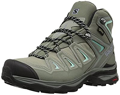 Salomon Women's X Ultra 3 MID GTX W Hiking Boots, Shadow/Castor Gray/Beach Glass, 8.5