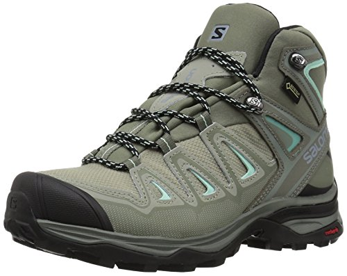 SALOMON Damen X Ultra 3 Mid GTX W Trekking- & Wanderstiefel, Grau (Shadow/Castor Gray/Beach Glass 000), 39 1/3 EU