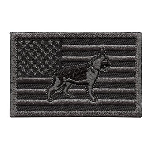 LEGEEON ACU K-9 USA Flag K9 Handler Dogs of War Subdued Morale Army Gear Hook&Loop Patch