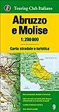 Abruzzo e Molise 1:200.000. Carta stradale e turistica. Ediz. multilingue...