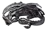 Ebros Oversized Large Slumbering Smaug Dragon Statue 19.5' Wide Medieval Mythical Fantasy Sculptural Decor