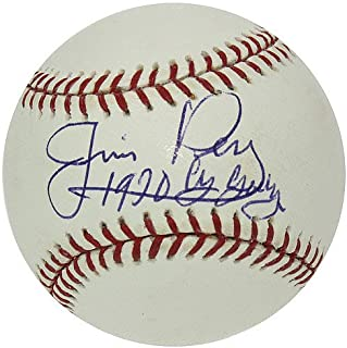 Jim Perry Autographed Official Major League Baseball - 1970 Cy Young - Authentic Signed Autograph