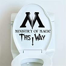 Zaidao Removable Vinyl Decal Art Mural Home Decor Wall Stickers Wc Ministry of Magic for Wc Toilet