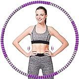 Hula Hoop Reifen, Abnehmbarer Hula Hoop für Erwachsene & Kinder zur Gewichtsabnahme und Massage,...