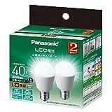 パナソニック LED電球 口金直径17mm 電球40W形相当 昼白色相当(4.0W) 一般電球・広配光タイプ 2個入り 断熱材施工器具 密閉形器具対応 LDA4NGE17ESW2T