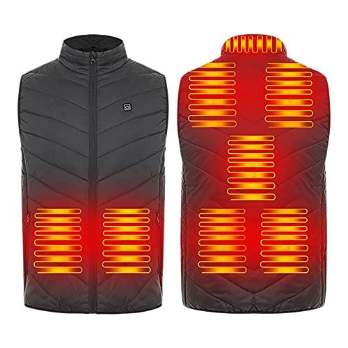 Kaxofang Chaleco Calefactable Mejorado para Hombres y Mujeres Chaleco Calefactor Recargable Ligero con 3 Niveles de CalefaccióN Chaqueta Calefactora para el Cuello M