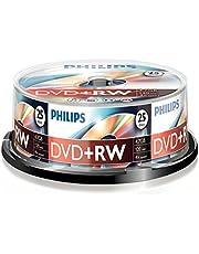 Philips DVD + RW (4,7 GB de datos/120 Minutos de vídeo, grabación de 1-4x, 25 husillo de 25).