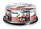 Philips DVD+RW - Disco Duro (4,7 GB de datos/120 Minutos de vídeo, grabación de Velocida...