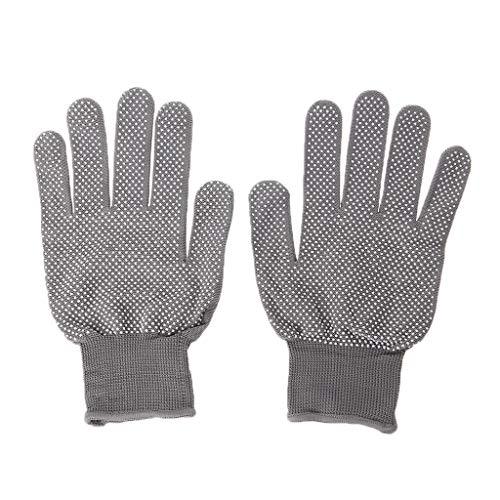 JIACUO 2 stks Hittebestendige Beschermende Handschoen Haar Styling Voor Curling Rechte Plat Ijzer Grijs