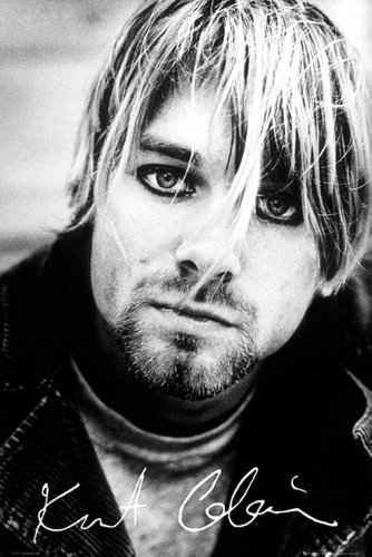 Kurt Cobain Nirvana - Signature - Musik Poster Plakat Druck - Grösse 61x91,5 cm