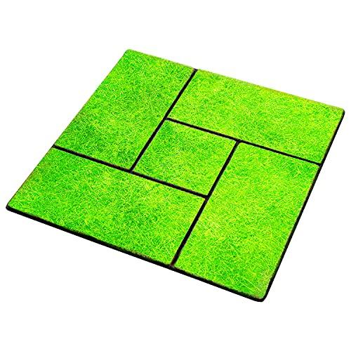 雑草が生えにくい芝生調マット30枚組 置くだけ 庭 玄関 防草 ベランダ テラス 墓 ガーデニング カット可