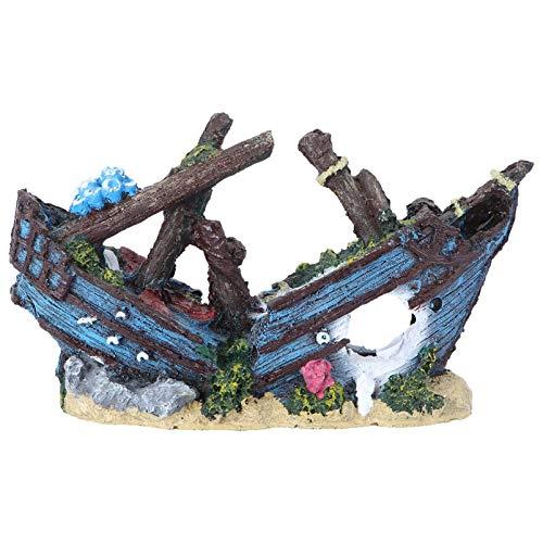 ledmomo 水槽 置物 飾り オブジェ アクアリウム 隠れ家 オーナメント 樹脂 装飾 水槽用飾り 海賊船 水槽の装飾 観賞魚 熱帯魚 淡水魚 エビ
