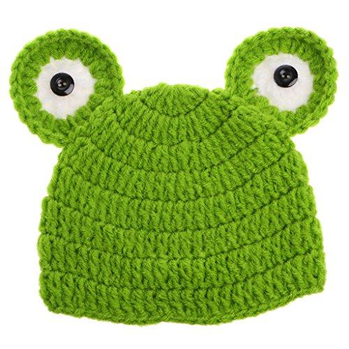 VIccoo Fotografie hoed, leuke karikatuur-babyhoeden handgemaakte zuigelingenkap gedragen fotografie-steun-kikkerhoed