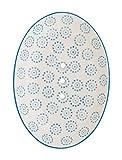 Seifenschale Ollo aus handbemalter Keramik mit Löchern für den Wasserablauf 14 x 9,5 x 2 cm