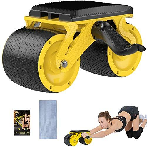 Z&HA Ab Roller Trainer, Bauchkernkraft Übungs-Rolle Ultra-Wide-Rad, Muskeltrainer Für Bauch, Bauch Und Rücken, Handliches Trainingsgerät Für Home Gym Übung