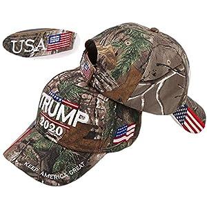 Keep America Great hat, Donald Trump MAGA Cap Adjustable Baseball Hat with USA Flag – Camouflage Cap Trump Hat