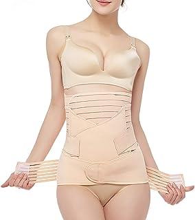 3 en 1 Faja Postparto de Mujer Ayuda para la recuperación Belly Wrap Cinturón de sección C Postnatal y Ayuda en la Postura...