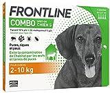 FRONTLINE Combo Chien - Anti-puces et anti-tiques pour chien - 2-10kg - 4 pipettes