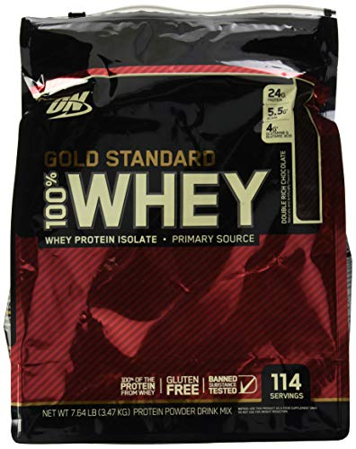 Optimum Nutrition On Gold Standard Double Chocolate 7.7lb OPTIMUN Gold Standard Whey Protein isolate, Double chocolate 7.7lb,