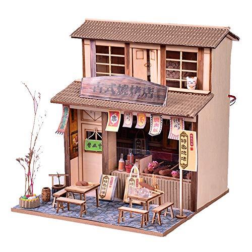 Lihgfw DIY Boring Handgefertigte Schwierige Holzhaus Machen Haus Altes Modell Villa im chinesischen Stil alte Art Große