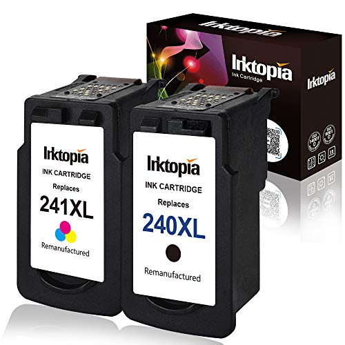 Inktopia Remanufactured for Canon PG-240XL CL-241XL Ink Cartridges (1 Black 1 Tri-Color) Compatible with Canon PIXMA MG3620 MG3520 MG2220 MG3220 MG3522 MX472 MX452 MX522 MX532 MX392 MX432 MX512
