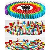 BEJOJO 積み木 木製ドミノ倒し 12カラー セット 240個+ピタゴラギミック20種 収納袋付き 子どもからおとなまで楽しめる 誕生日 記念日 プレゼント 配置具付き