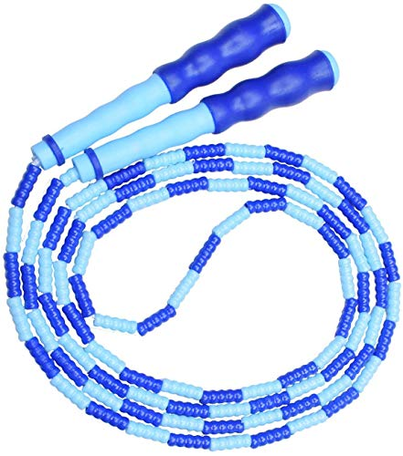 WENTS Springseil Weich Perlen Verstellbare für Männer, Frauen und Kinder - Verwicklungsfrei zum Fitbleiben, Training, Üben,Verstellbares Springseil für, Kunststoff, mit Silikongriff 2 pcs