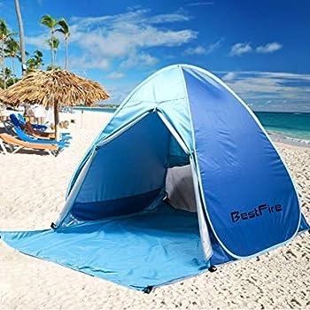 BestFire Outdoor Automatic Pop up Instant portable Cabana Beach Tente Anti UV Canopy Sun Shade Sport Shelter Sun Shelter pour la famille Enfants Baby Outdoor Camping Pêche Pique-nique Randonnée