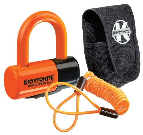 Kryptonite 3500363 Motorradschloss, Orange, 14 Millimeter