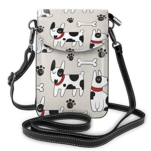 XCNGG Monedero para teléfono celular con huella de perro manchado, bolso cruzado, bolsos de hombro, billetera para mujeres, niñas, viajes, bodas