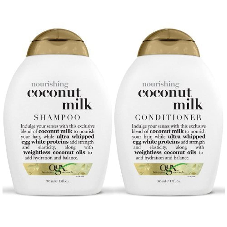 OGX Nourishing Coconut Milk Shampoo & Conditioner (13 Ounce) [並行輸入品]
