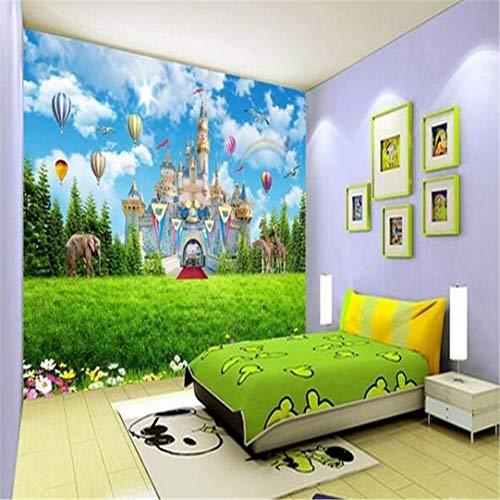 3D-fotobehang voor kinderkamer, 3D-wandfoto, motief: heteluchtballon, wandfoto, voor bank, tv, 3D-achtergrond 300cm*210cm