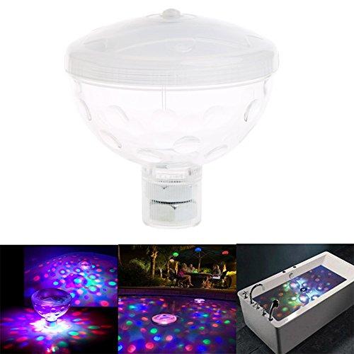 Dairyshop Unterwasser-Licht, 4 LED, schwimmend, für Dusche / Schwimmbad / Garten / Weihnachten / Party