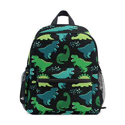 Cute Kid's Toddler Backpack Dinosaur Schoolbag for Boys Girls,Kindergarten Children Bag Preschool Nursery Travel Bag with Chest Clip(Childish Dinosaur)
