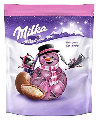Milka Milch Schokolade Bonbons mit Popping Candy Creme Füllung im Beutel
