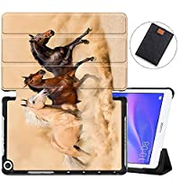 MAITTAO Stand Cover For Huawei MediaPad M5 Lite 8 Case, Ultra Slim Folio Smart-Shell with Auto Wake/Sleep for Huawei Mediapad T5 8.0 / M5 Lite 8 inch 2019 Released Tablet, Akhal-Teke Horse 7